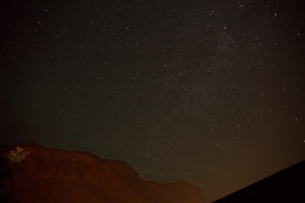 Milky Way over the red rocks in the Colorado River valley