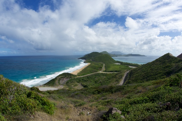 St. Kitts, looking toward Nevis.