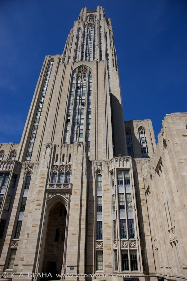 The cathedral of learning, exterior.