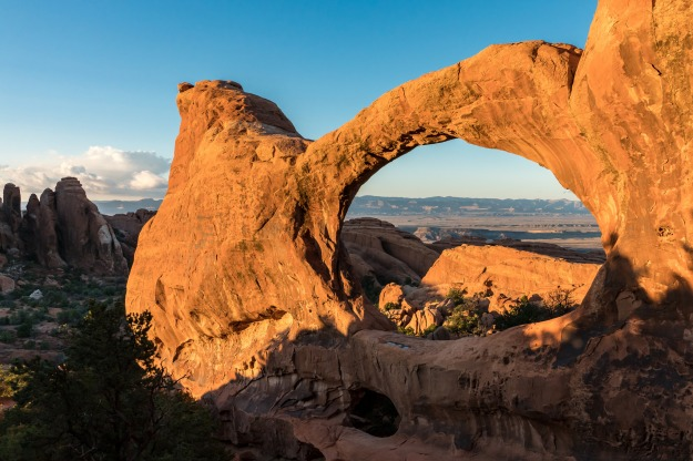Double O Arch, just before we went off onto the primitive trail. I'm so glad I got to see it in such a beautiful state.