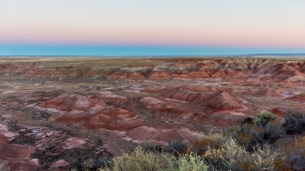 Painted desert in Arizona