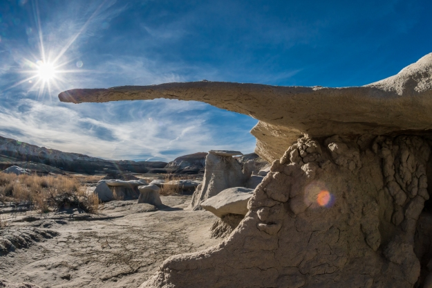 Rock formations in the Bisti Badlands