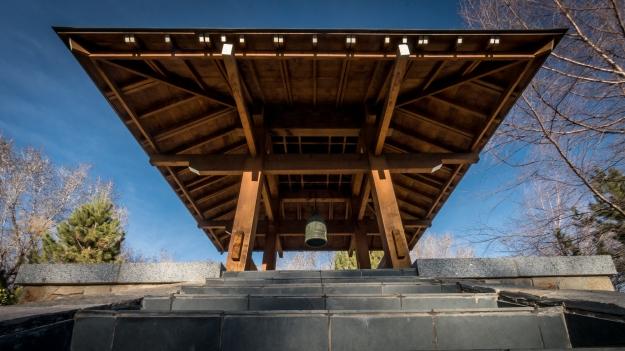 The shrine at the Japanese Garden