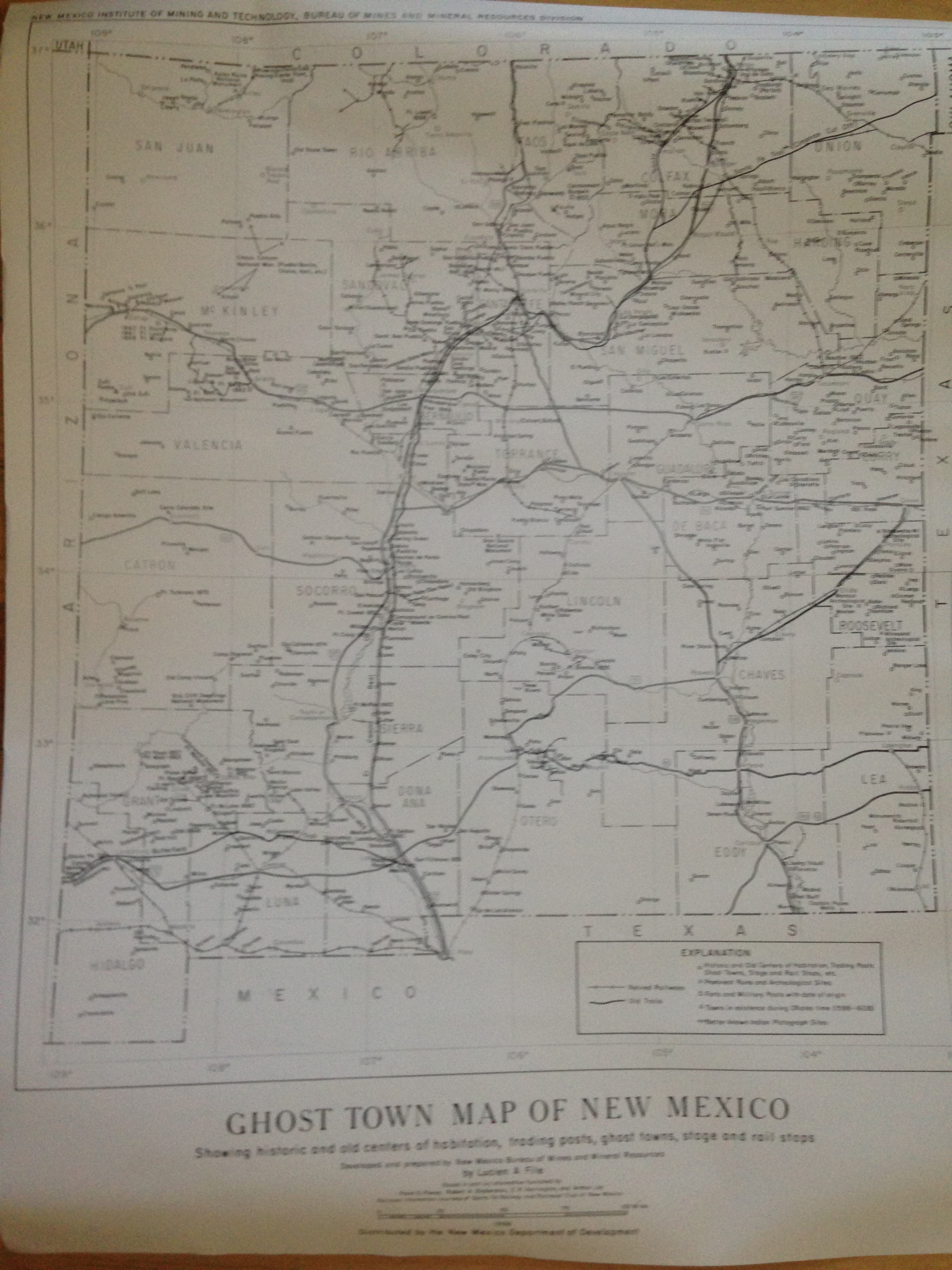 Western Ghost Towns St Elmo Colorado And Chloride New Mexico - Map of new mexico towns