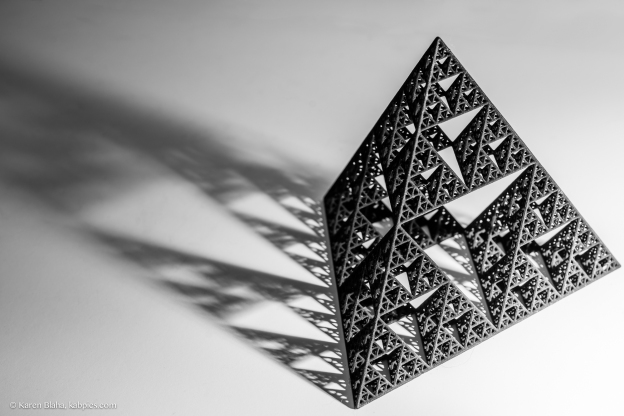 Sierpinski tetrahedron: my photo, not my sculpture
