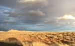 Beautiful light in the painted desert