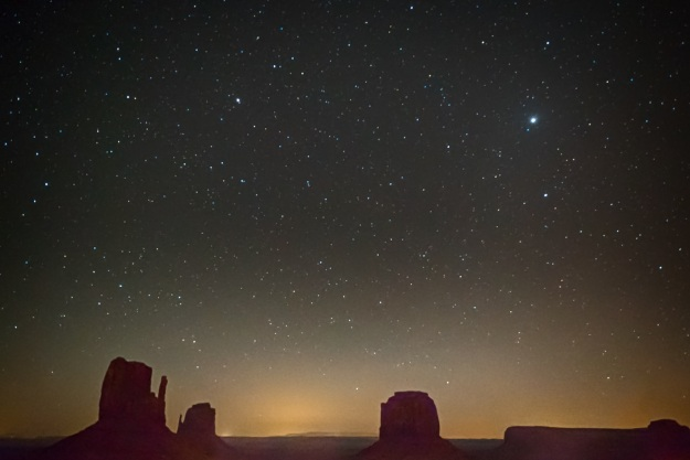 Stars at Monument Valley