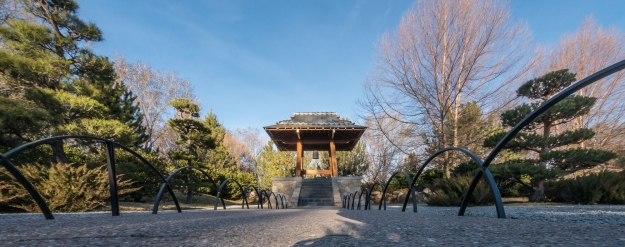 The shrine at the Japanese Garden